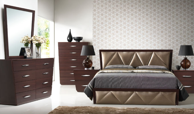 galaxy furniture and lighting design - bedroom set