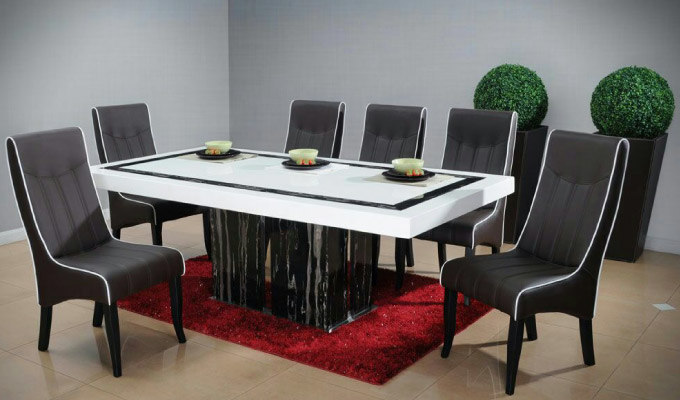 galaxy furniture and lighting design - dining set